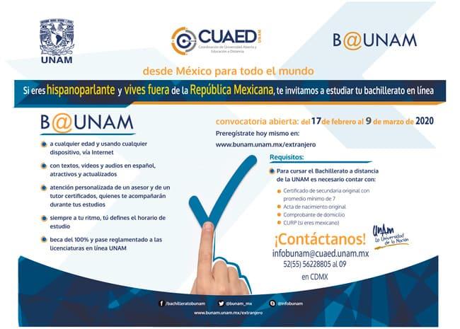 Convocatoria Bachillerato UNAM